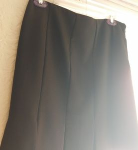 WHBM black pleated-slits skirt